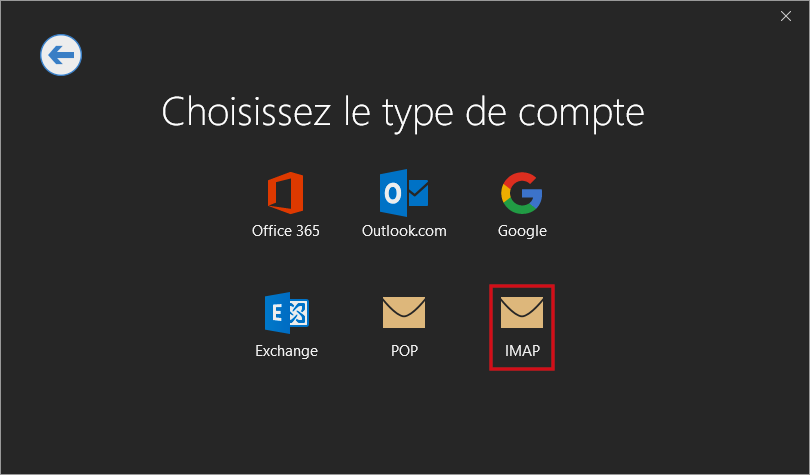 Configurer un compte Outlook